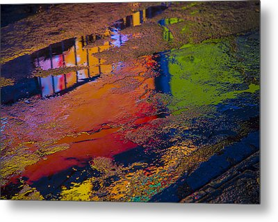 New York Reflections Metal Print by Garry Gay