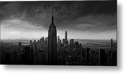 New York Rockefeller View Metal Print by Wim Schuurmans