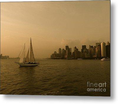 New York Sailing Metal Print by Avis  Noelle
