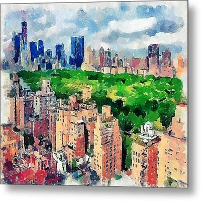 New York Sky View Metal Print