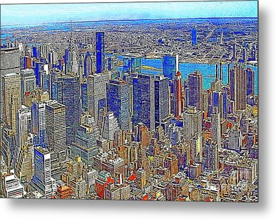 New York Skyline 20130430v3 Metal Print by Wingsdomain Art and Photography