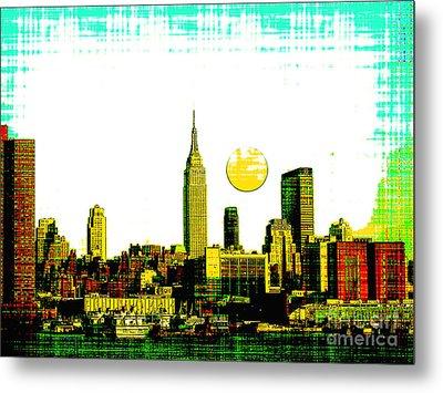 New York Skyline  Metal Print by Celestial Images