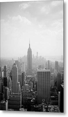 New York Skyline Metal Print by Allan Millora Photography