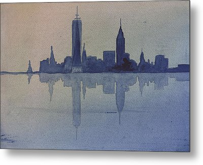 New York Skyline  Metal Print by Donna Walsh