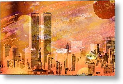 New York Skyline Metal Print by Louis Ferreira