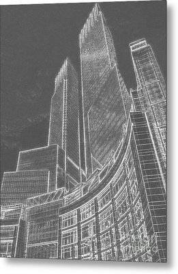 New York Skylines Metal Print by Celestial Images