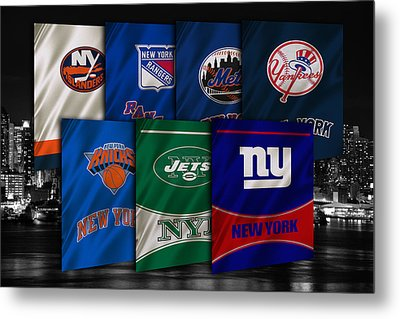 New York Sports Teams Metal Print by Joe Hamilton