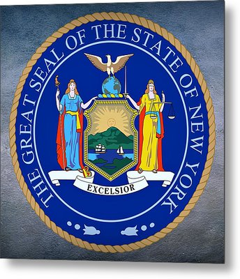 New York State Seal Metal Print