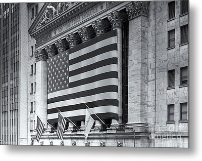 New York Stock Exchange Iv Metal Print by Clarence Holmes