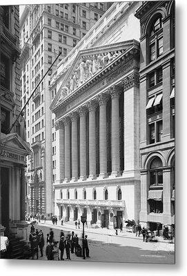 New York Stock Exchange, New York In 1904 Metal Print