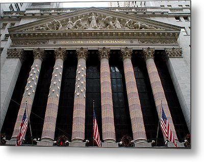 New York Stock Exchange Metal Print by Yue Wang