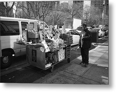 New York Street Photography 5 Metal Print by Frank Romeo