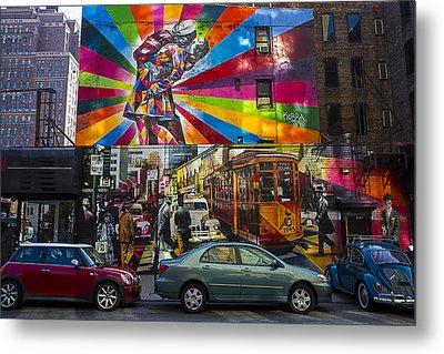 New York Street Scene Metal Print by Garry Gay