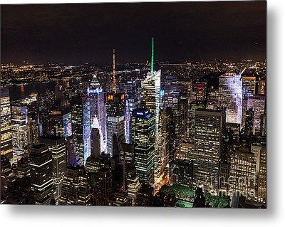 New York Times Square Metal Print by Matt Malloy