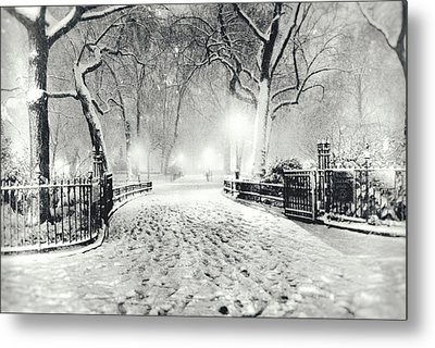 New York Winter Landscape - Madison Square Park Snow Metal Print by Vivienne Gucwa