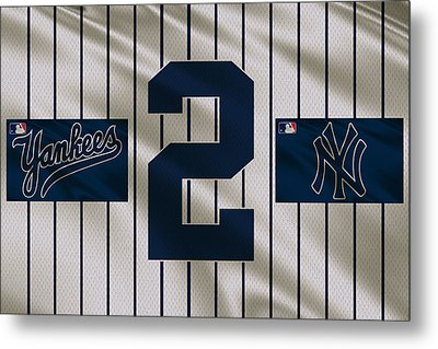 New York Yankees Derek Jeter Metal Print