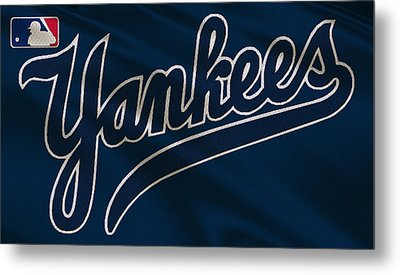 New York Yankees Uniform Metal Print by Joe Hamilton