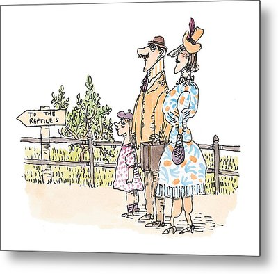 New Yorker April 12th, 1999 Metal Print by William Steig
