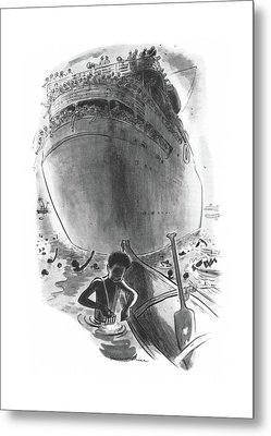 New Yorker April 1st, 1944 Metal Print by Garrett Price