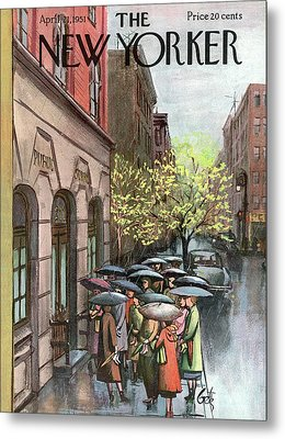 New Yorker April 21st, 1951 Metal Print by Arthur Getz