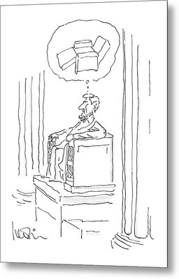 New Yorker April 28th, 1986 Metal Print by Arnie Levin