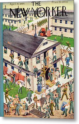 New Yorker April 29th, 1944 Metal Print by Tibor Gergely