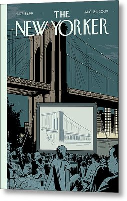 New Yorker August 24th, 2009 Metal Print by Adrian Tomine