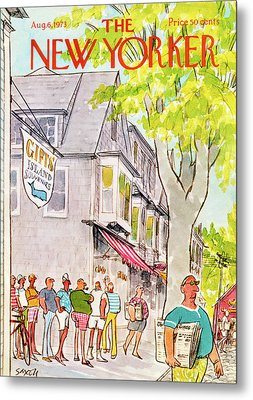 New Yorker August 6th, 1973 Metal Print by Charles Saxon