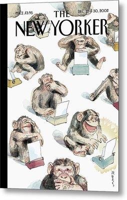 New Yorker December 23rd, 2002 Metal Print by Barry Blitt