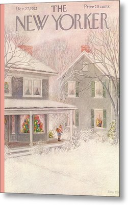 New Yorker December 27th, 1952 Metal Print by Edna Eicke