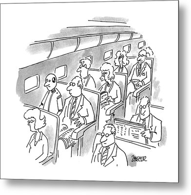 New Yorker December 5th, 1994 Metal Print by Jack Ziegler