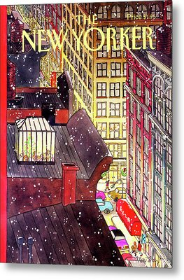 New Yorker December 7th, 1992 Metal Print
