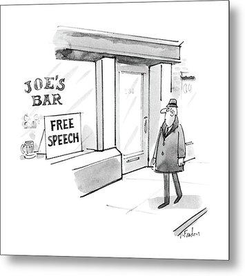 New Yorker February 16th, 1987 Metal Print by Dana Fradon