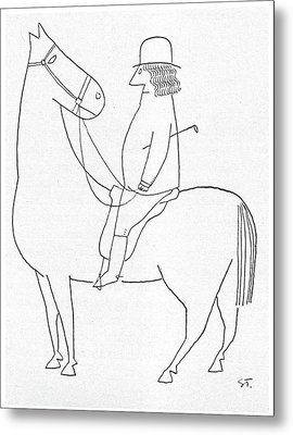 New Yorker February 18th, 1950 Metal Print by Saul Steinberg