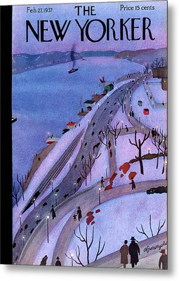 New Yorker February 27th, 1937 Metal Print by Adolph K. Kronengold