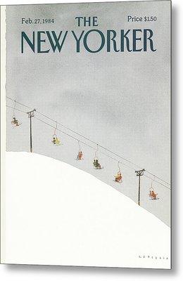 New Yorker February 27th, 1984 Metal Print