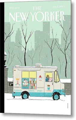 New Yorker February 2nd, 2009 Metal Print
