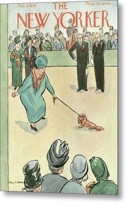 New Yorker February 8th, 1936 Metal Print by Helen E. Hokinson