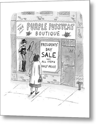 New Yorker February 9th, 1998 Metal Print by Roz Chast