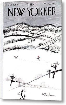 New Yorker January 15th, 1949 Metal Print by Abe Birnbaum