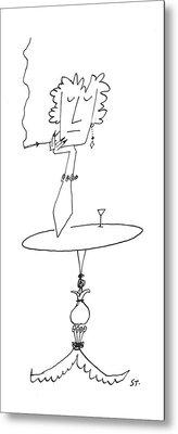 New Yorker January 18th, 1958 Metal Print by Saul Steinberg