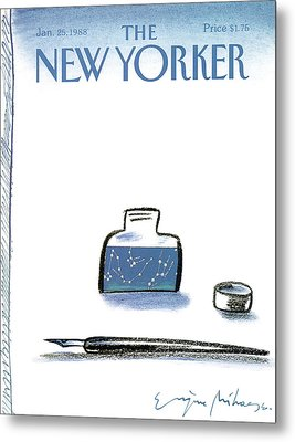 New Yorker January 25th, 1988 Metal Print