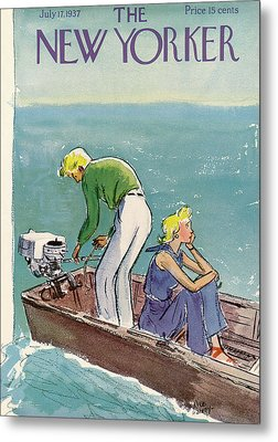 New Yorker July 17th, 1937 Metal Print by Alice Harvey