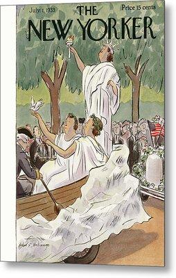 New Yorker July 1st, 1933 Metal Print by Helen E. Hokinson