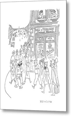New Yorker July 29th, 1944 Metal Print by Saul Steinberg