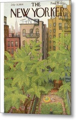 New Yorker July 31st, 1954 Metal Print by Edna Eicke