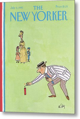 New Yorker July 5th, 1982 Metal Print by William Steig