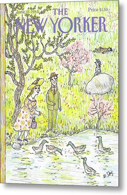 New Yorker June 10th, 1985 Metal Print by William Steig