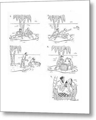 New Yorker June 12th, 1943 Metal Print by Roberta Macdonald