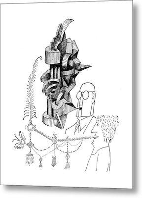 New Yorker June 1st, 1957 Metal Print by Saul Steinberg